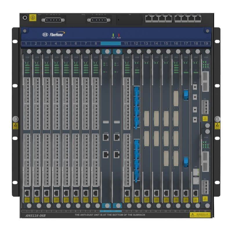 OLT AN5516-06B FiberHome 06U HU1A+HSWA+PWR-48V