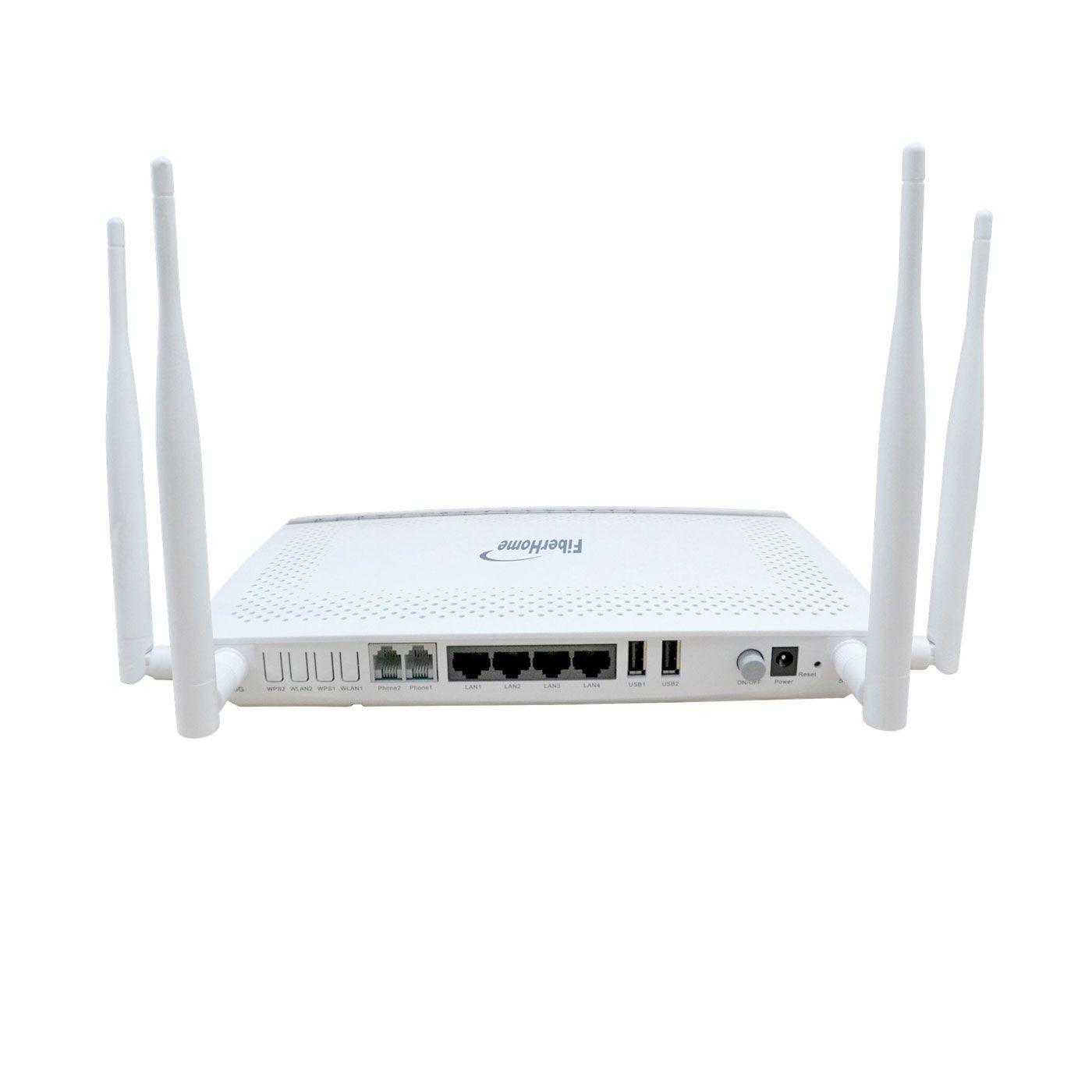 ONU FiberHome AN5506-04-FA (B) GPON 4GE + 2POTS + WiFi MIMO 2x2