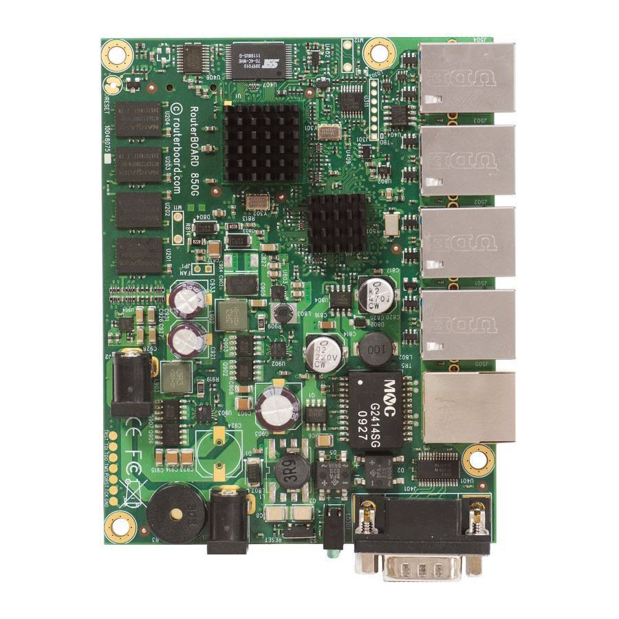 Placa-Mãe Mikrotik RouterBoard RB850Gx2