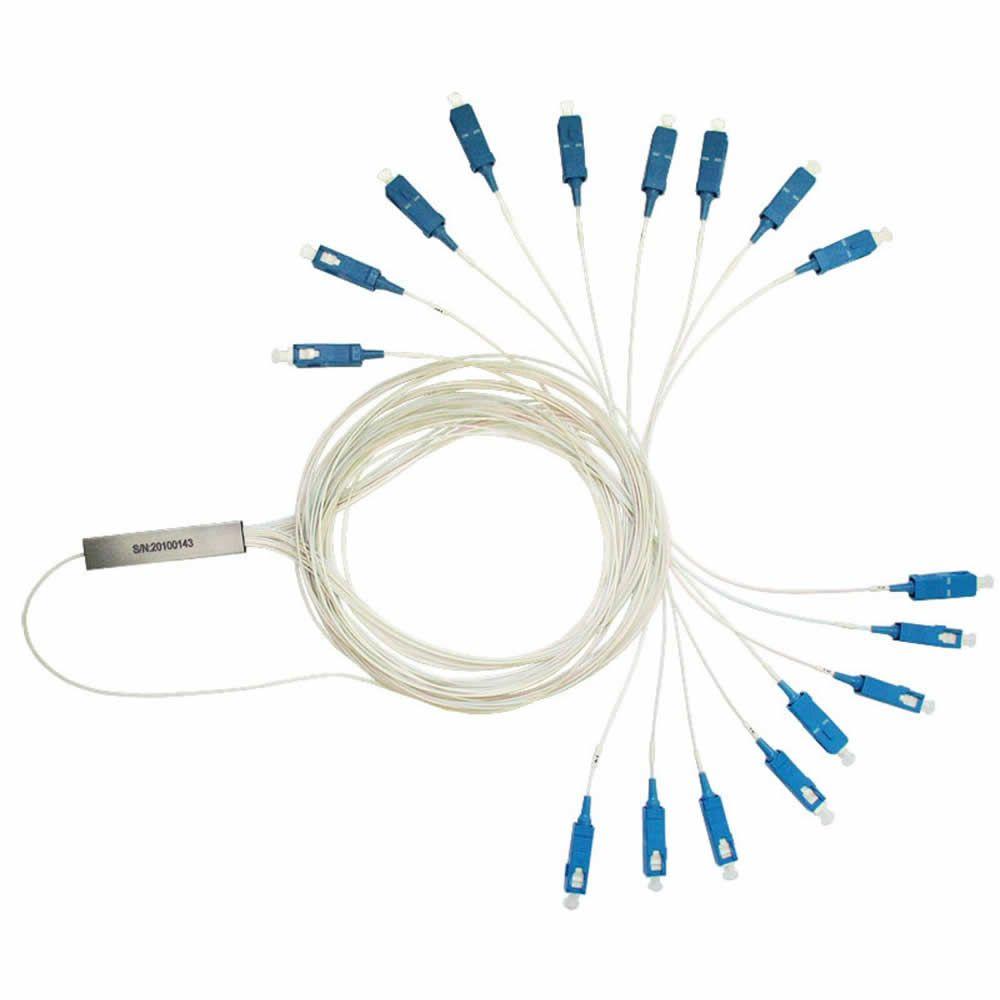 Splitter Óptico PLC 1x16 Steel Tube SC-UPC - Kit 2 peças