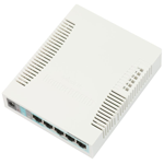 Switch Mikrotik RB260GS 05 portas gigabit + 1 SFP