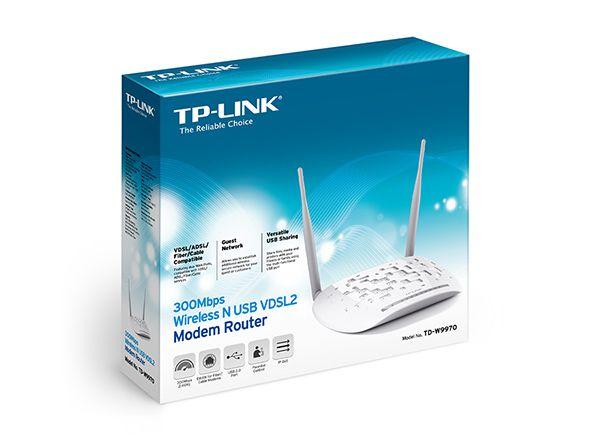 TP-LINK TD-W9970 VDSL2 Modem Router 300mbs USB