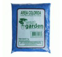 Areia Colorida 1KG Azul WEST GARDEN