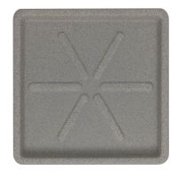 Base Quadrada 30 x 3 cm Granito Pedra Vasart