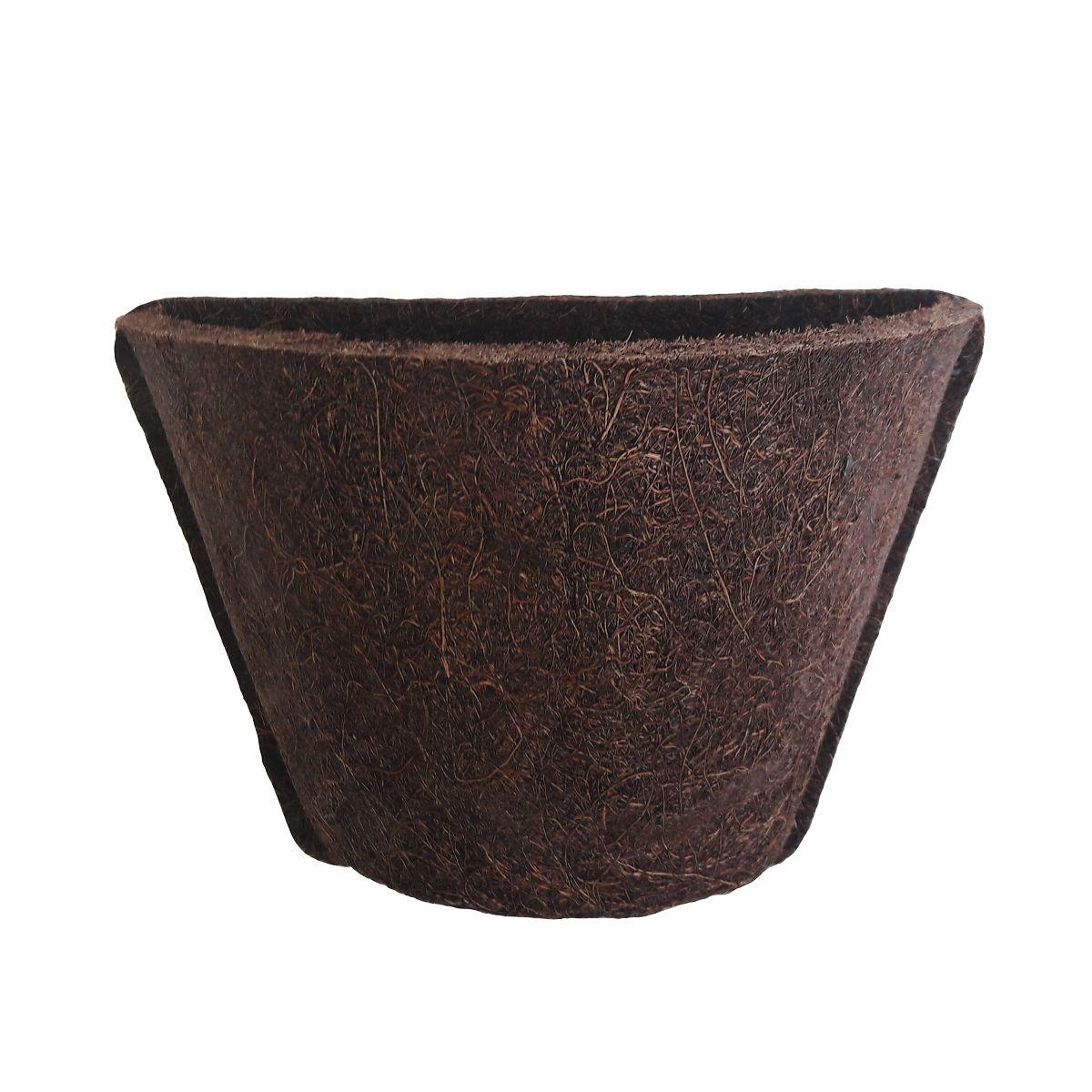 Meio Vaso 12 Com Placa Pequena de Fibra de Coco - COQUIM