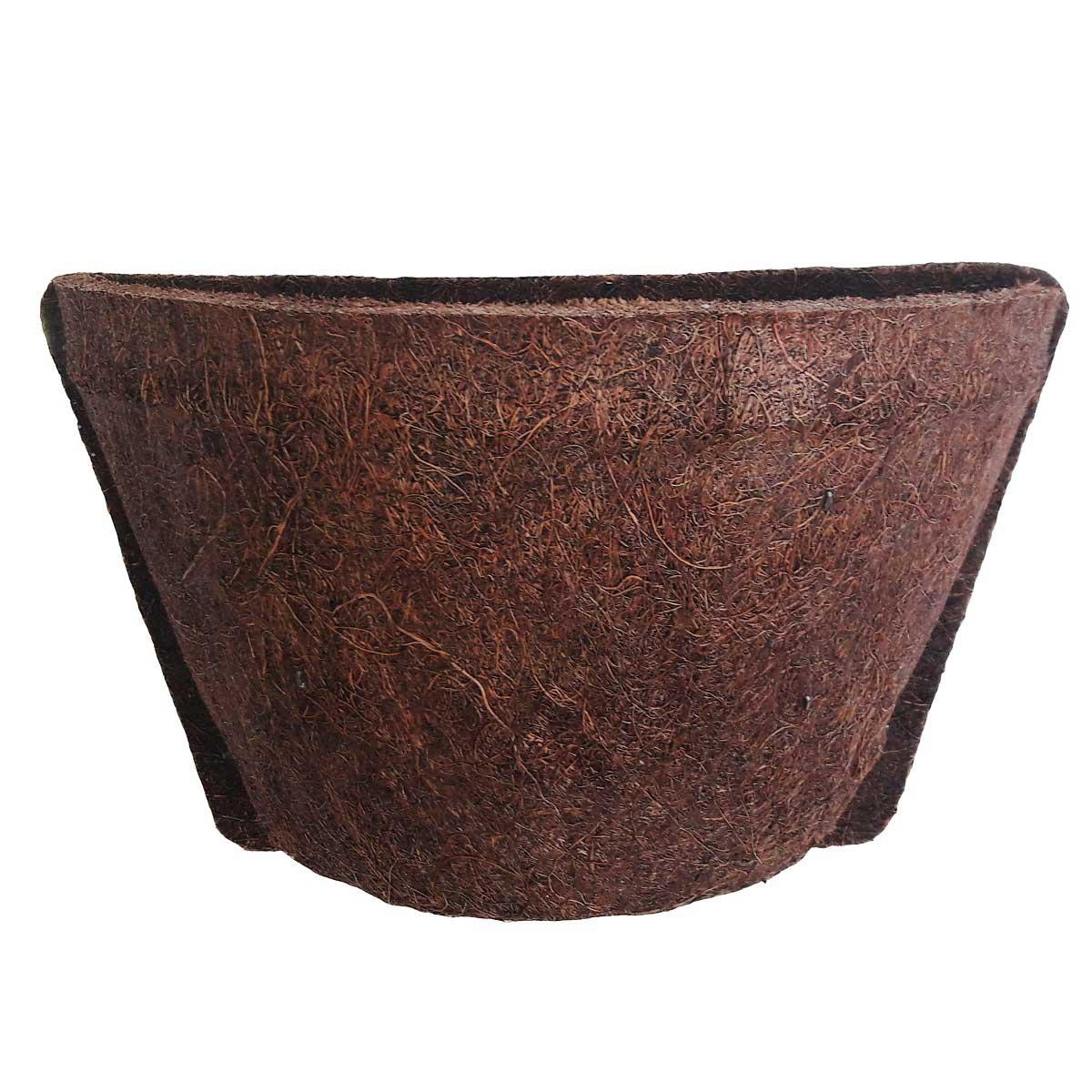 Meio Vaso 14 Com Placa Pequena de Fibra de Coco - COQUIM