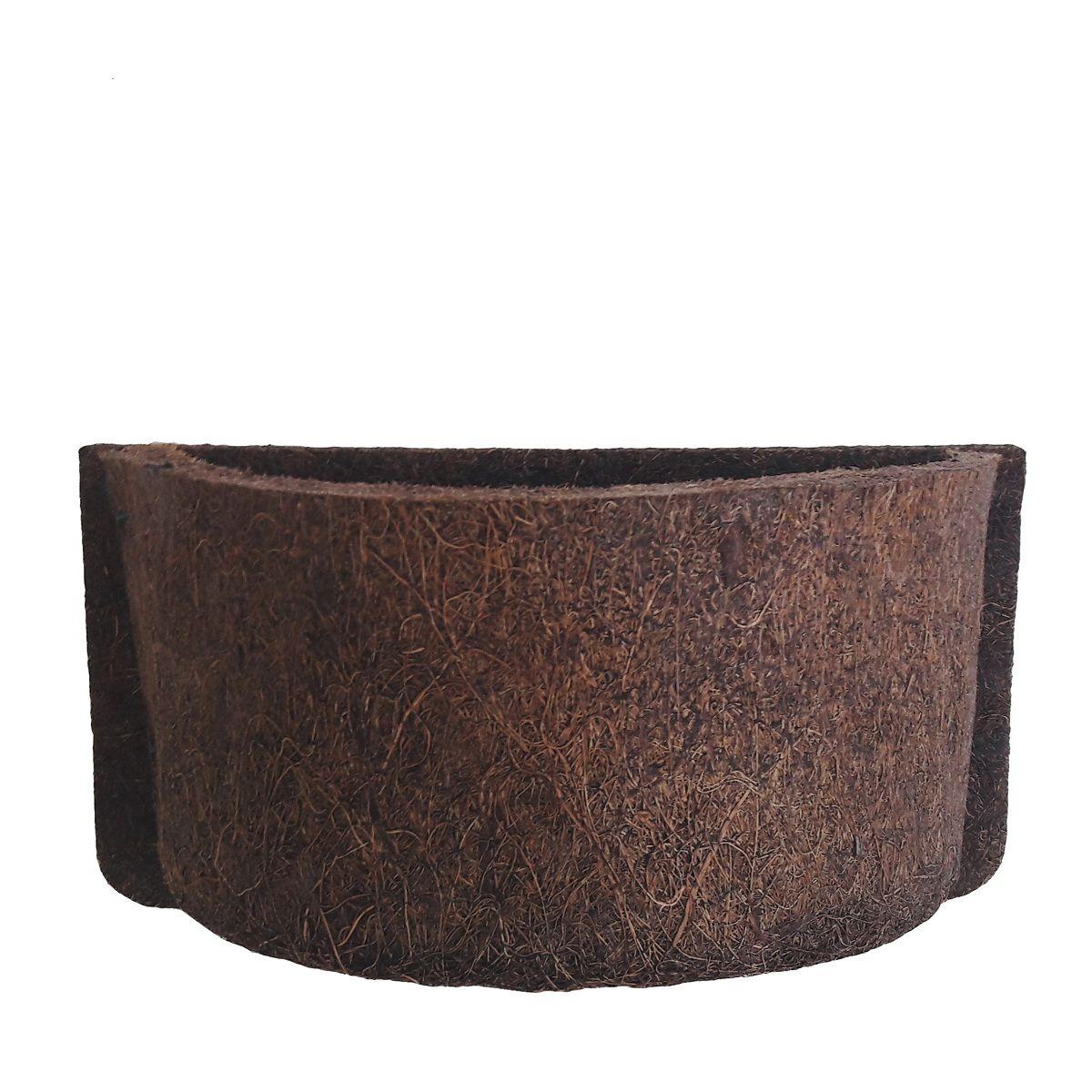 Meio Vaso 15 Com Placa Pequena De Fibra de Coco COQUIM