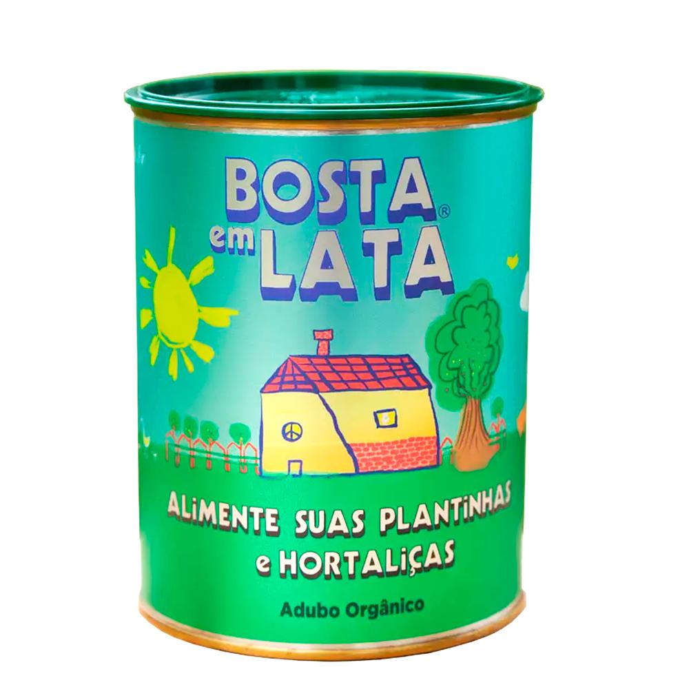 Adubo Orgânico Fertilizante para Plantas e Hortaliças - Bosta em Lata 500g