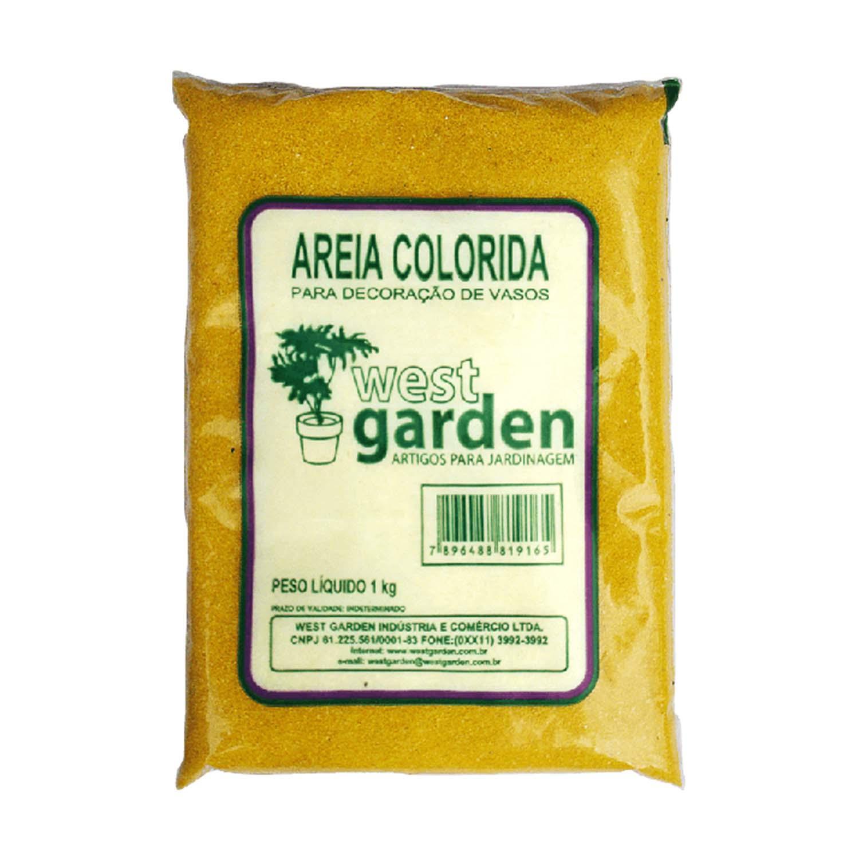 Areia Colorida 1KG Amarela WEST GARDEN