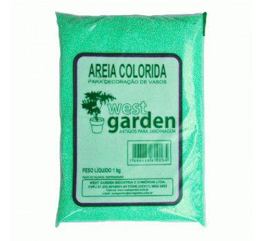 Areia Colorida 1KG Verde WEST GARDEN