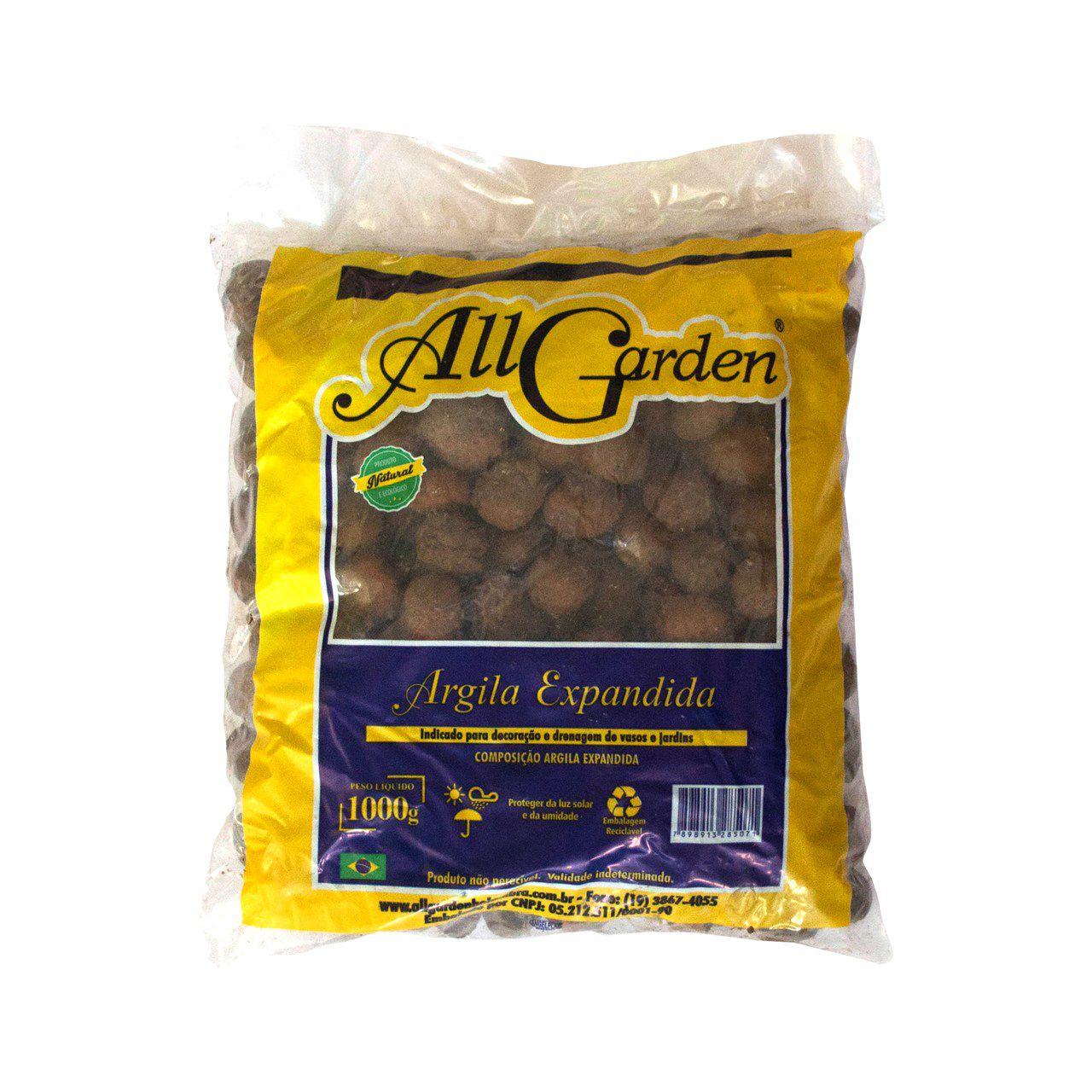Argila Expandida 1kg All Garden