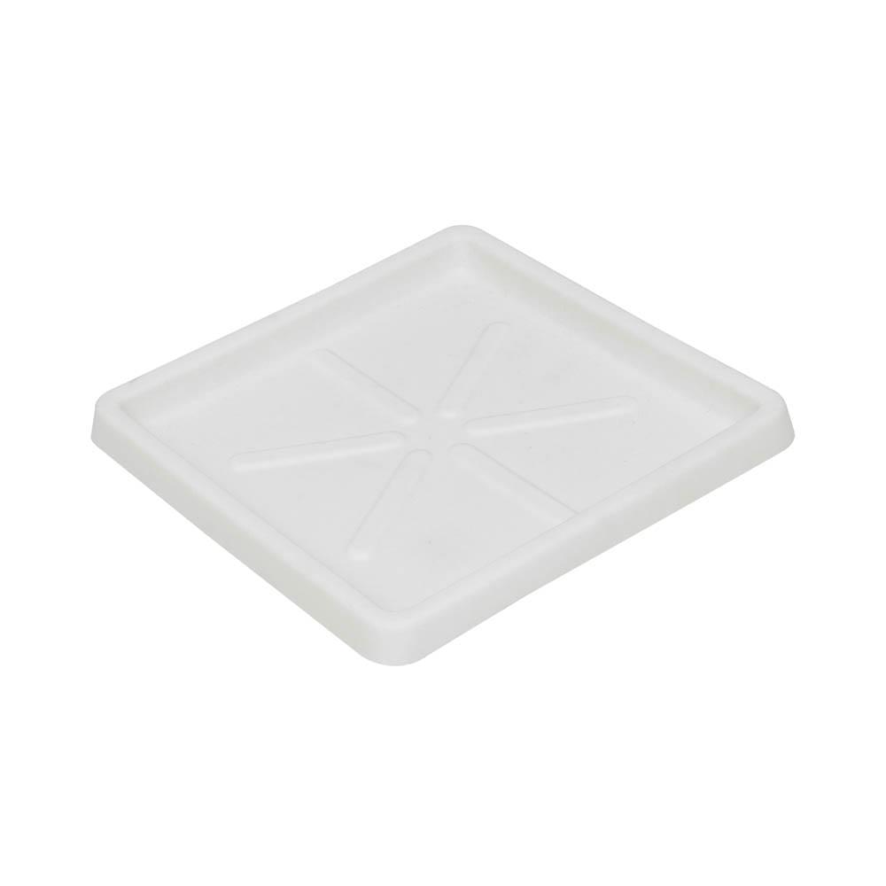 Base Quadrada 25 x 3 cm Branco Vasart