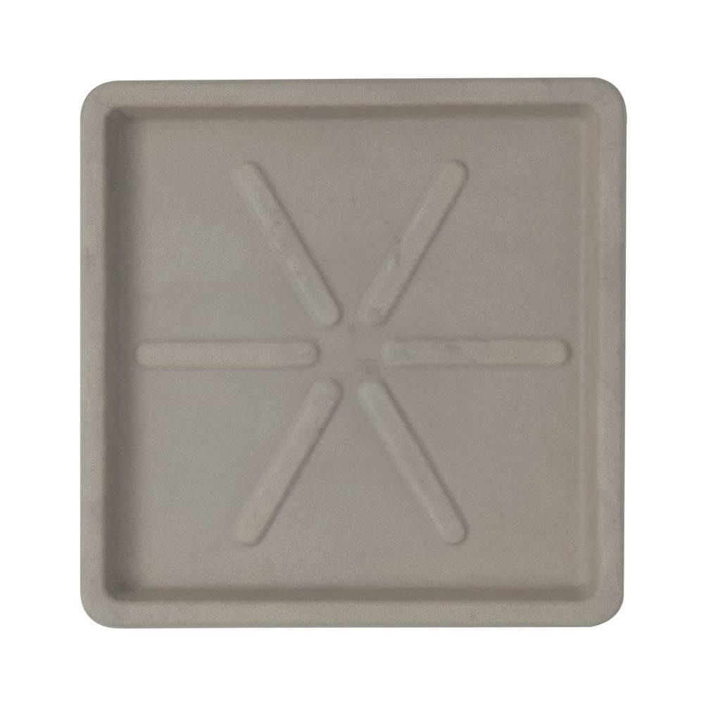 Base Quadrada 25 x 3 cm Concreto Marmorizado Vasart