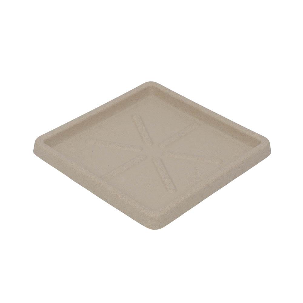 Base Quadrada 25 x 3 cm Granito Areia Vasart