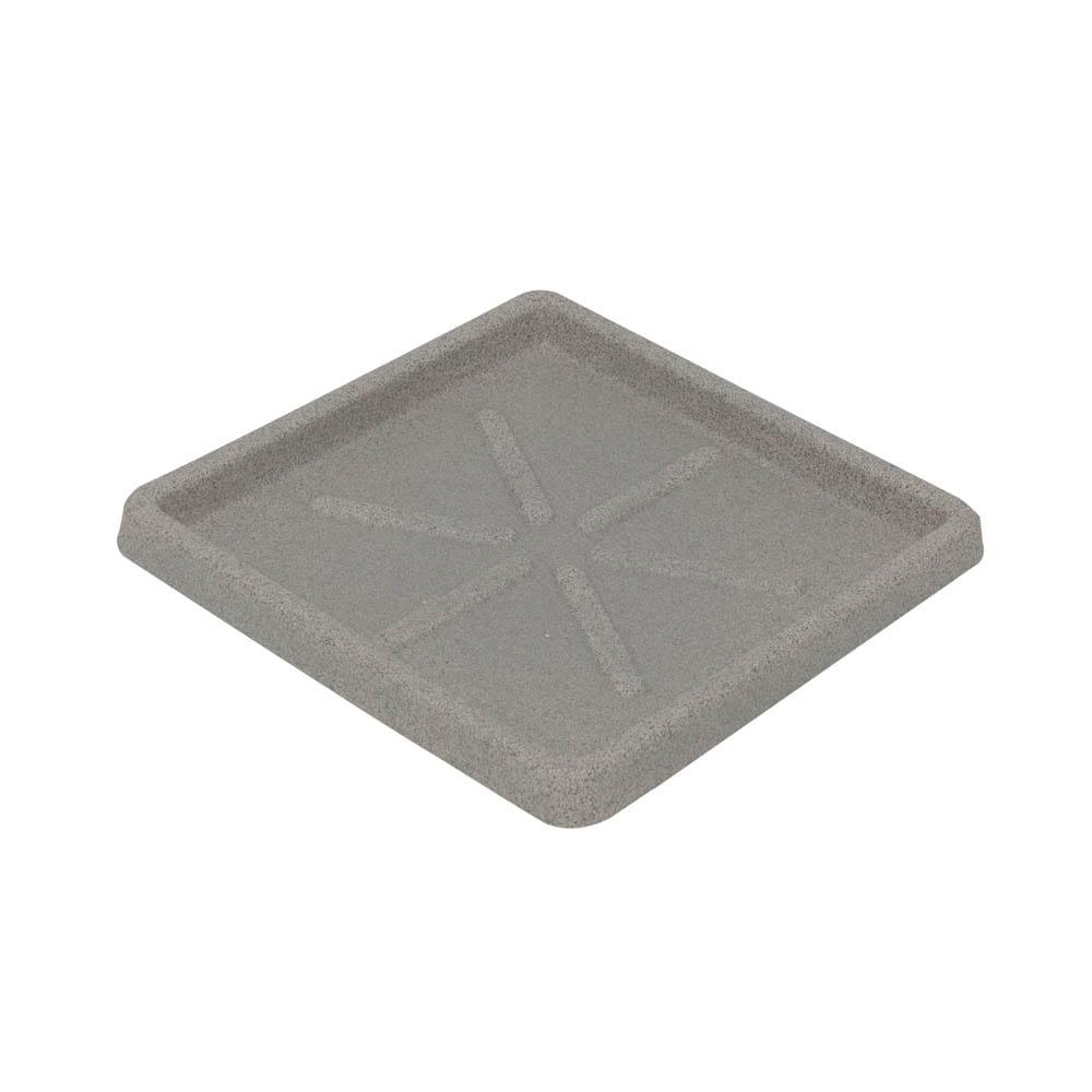 Base Quadrada 25 x 3 cm Granito Pedra Vasart