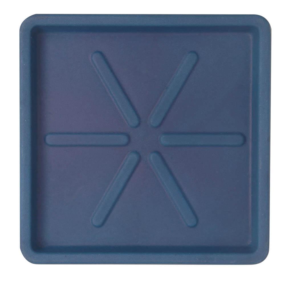 Base Quadrada 30 x 3 cm Azul Vietnamita Vasart