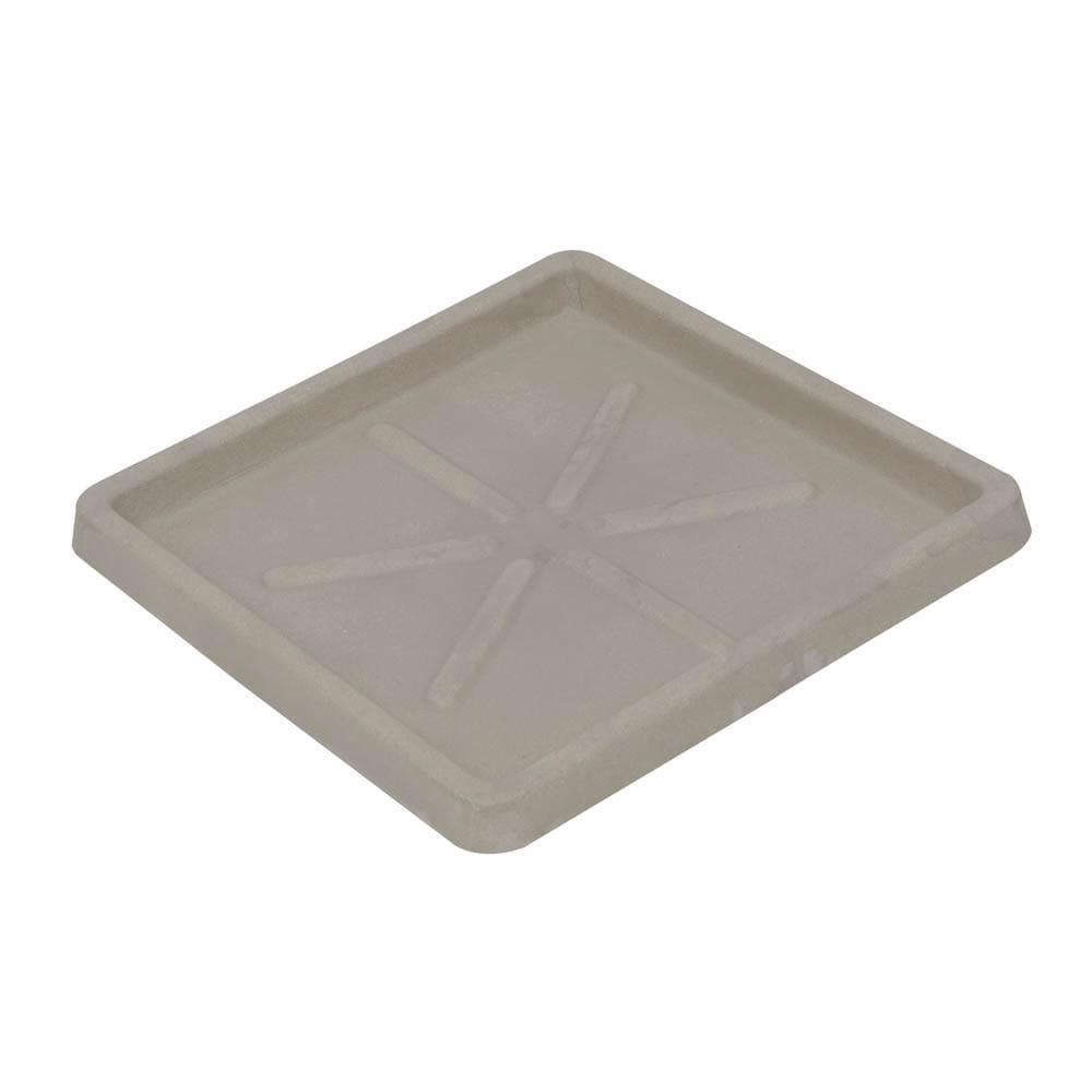 Base Quadrada 30 x 3 cm Concreto Marmorizado Vasart