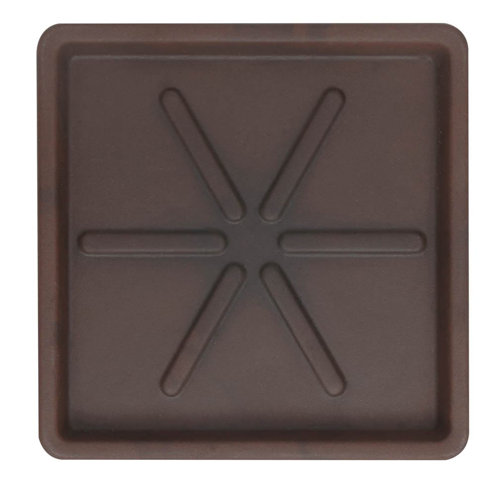 Base Quadrada 30 x 3 cm Corten Vasart