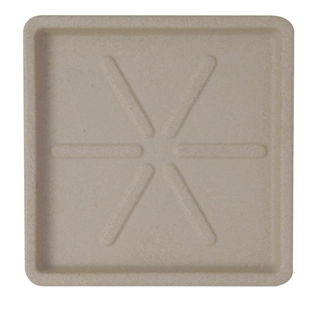 Base Quadrada 30 x 3 cm Granito Areia Vasart