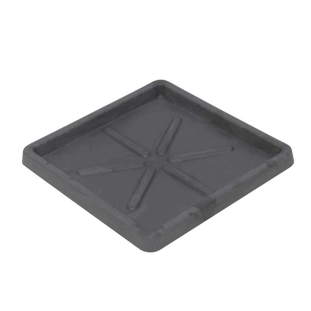 Base Quadrada 30 x 3 cm Preto Marmorizado Vasart