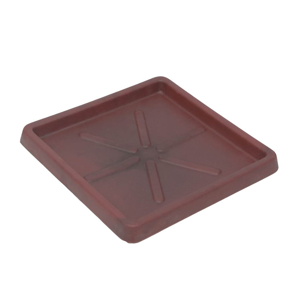 Base Quadrada 30 x 3 cm Vermelho Vietnamita Vasart