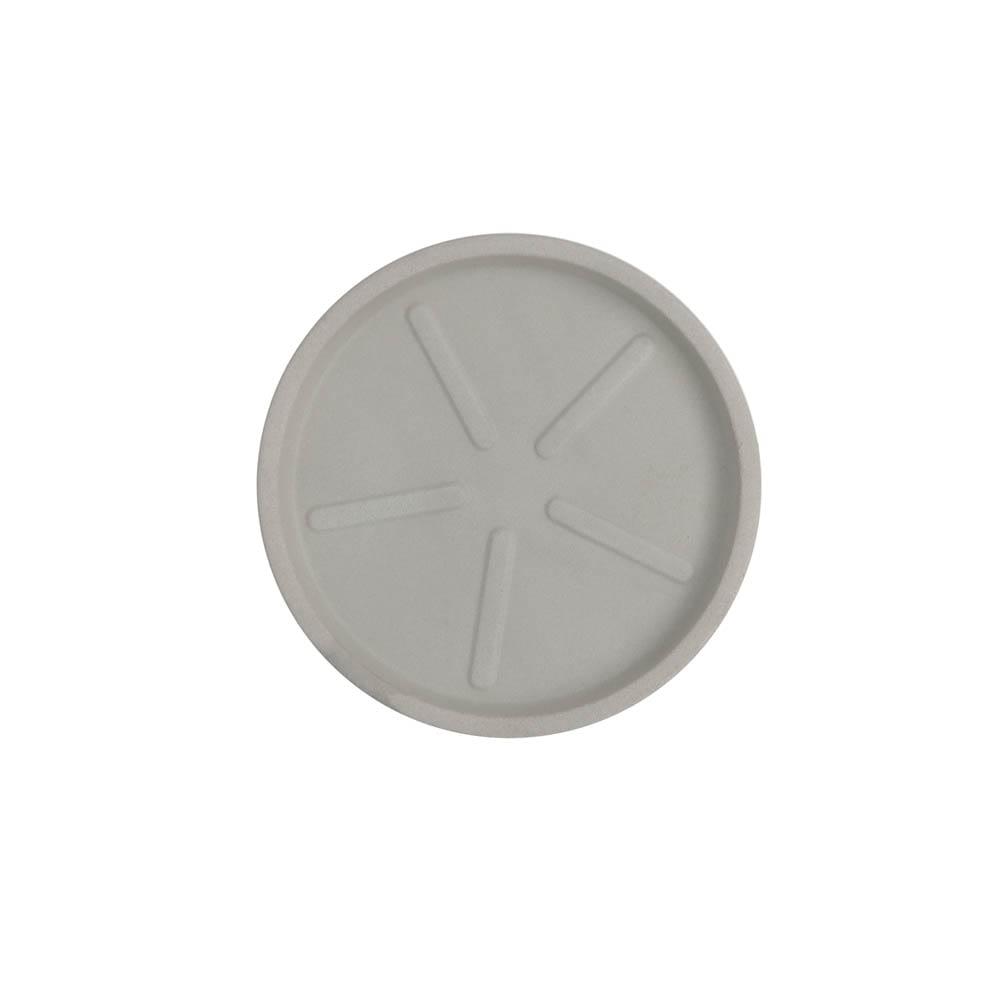 Base Redonda 20 x 3 cm Branco Marmorizado Vasart