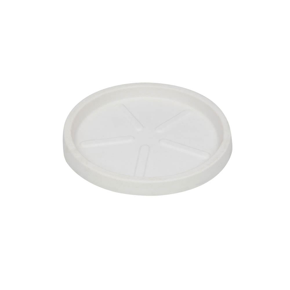 Base Redonda 24 x 3 cm Branco Vasart