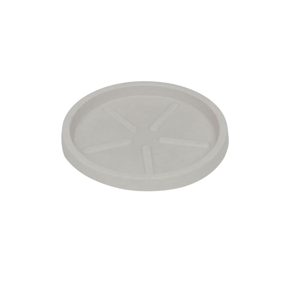 Base Redonda 24 x 3 cm Branco Marmorizado Vasart
