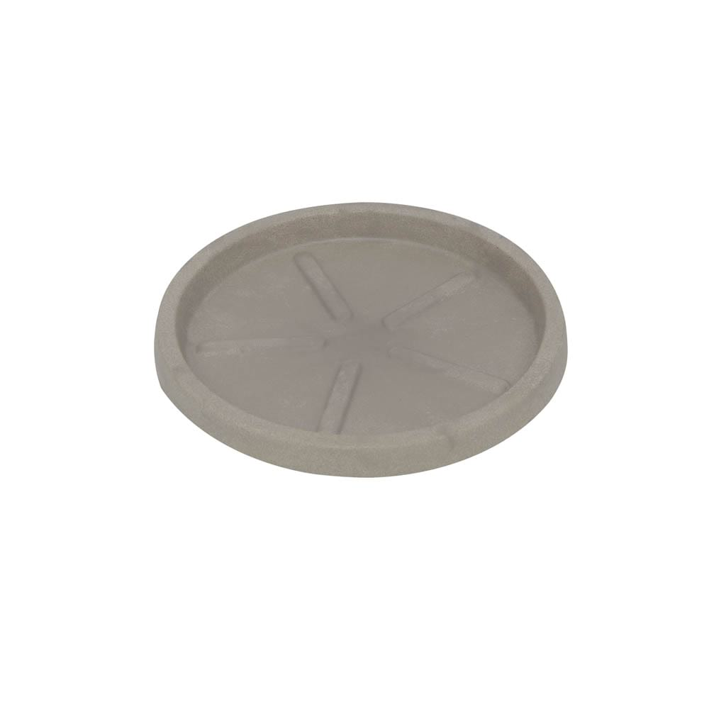 Base Redonda 24 x 3 cm Concreto Marmorizado Vasart