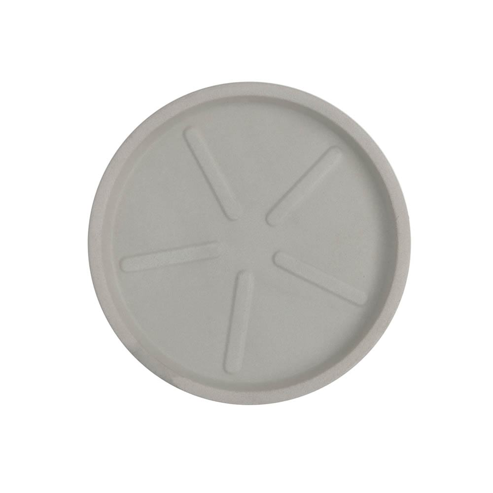 Base Redonda 28 x 3 cm Branco Marmorizado Vasart