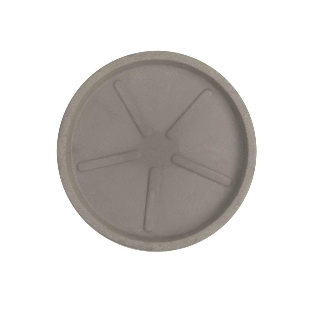 Base Redonda 28 x 3 cm Concreto Marmorizado Vasart
