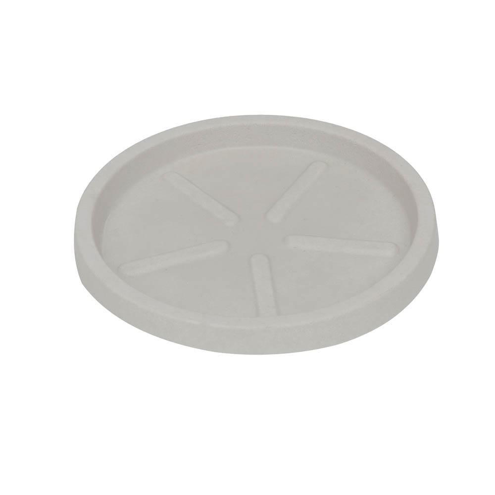 Base Redonda 32 x 3 cm Branco Marmorizado Vasart
