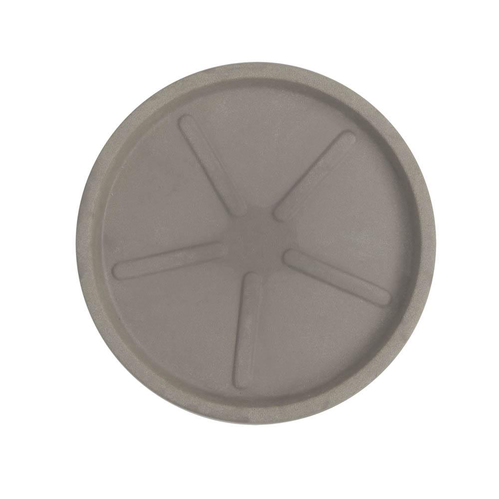 Base Redonda 32 x 3 cm Concreto Marmorizado Vasart