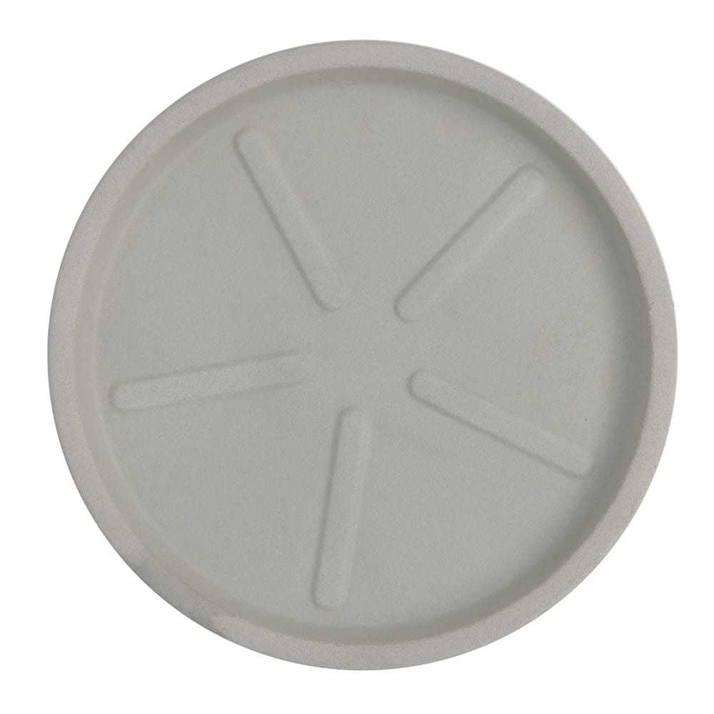 Base Redonda 40 x 3 cm Branco Marmorizado Vasart