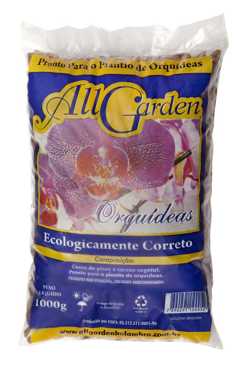 Casca de Pinus para Orquídea 1kg All Garden