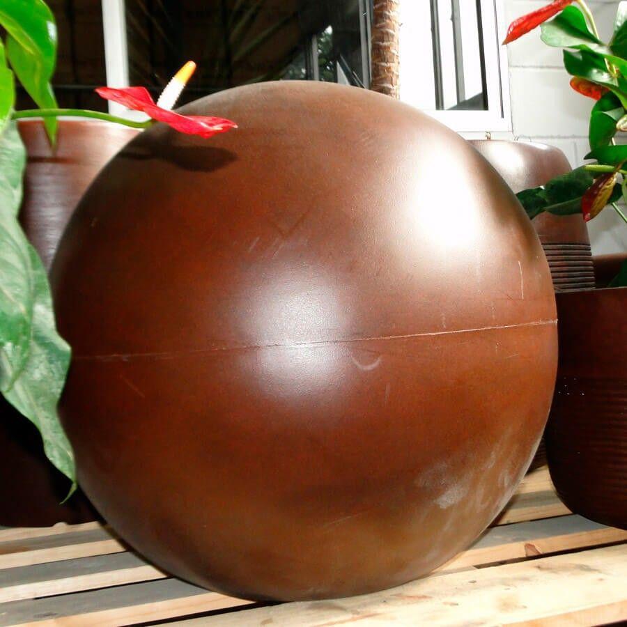 Esfera 40 cm Branco Marmorizado Vasart