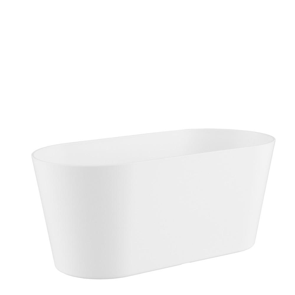 Floreira Porto 30 x 14 cm Branco