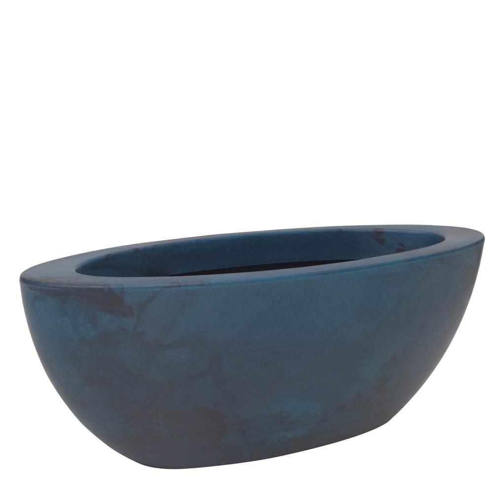 Floreira Verona Oval 80 x 22 cm Vietnamita Azul Vasart