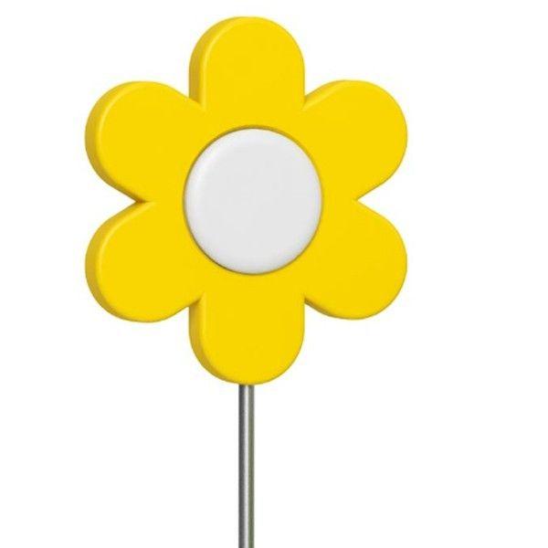 Haste Decorativa Landhaus Flor Amarelo