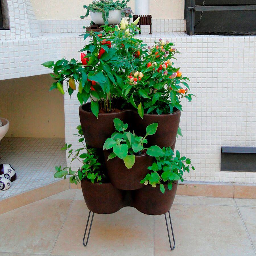 Horta Vertical com 3 Peças com Suporte Vasart