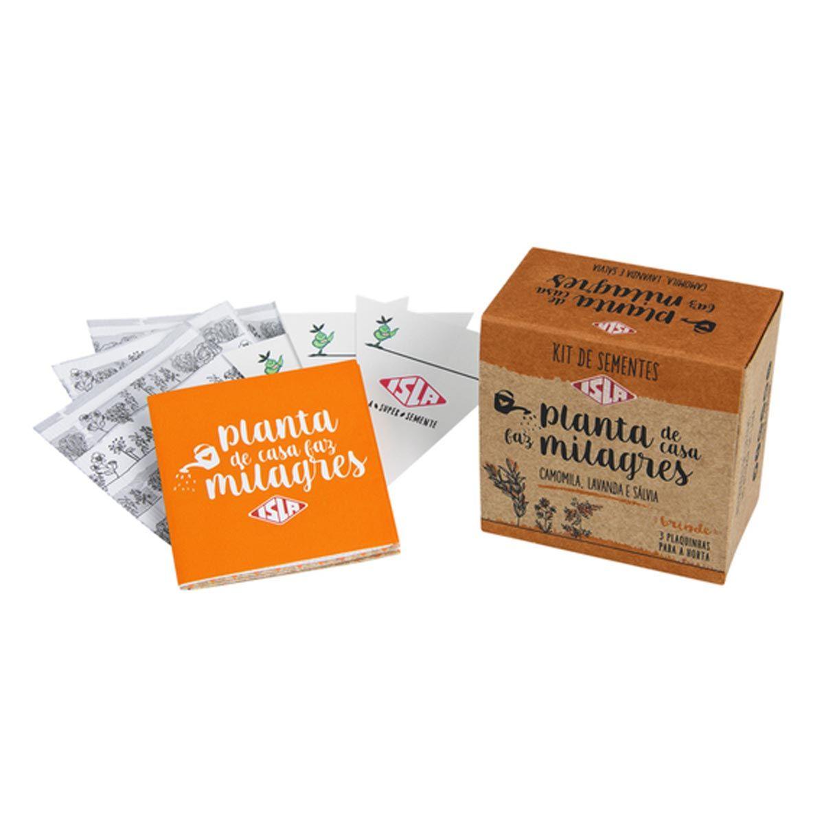 Kit de Sementes - Planta de casa Faz Milagre (Camomila, Lavanda e Sálvia) ISLA