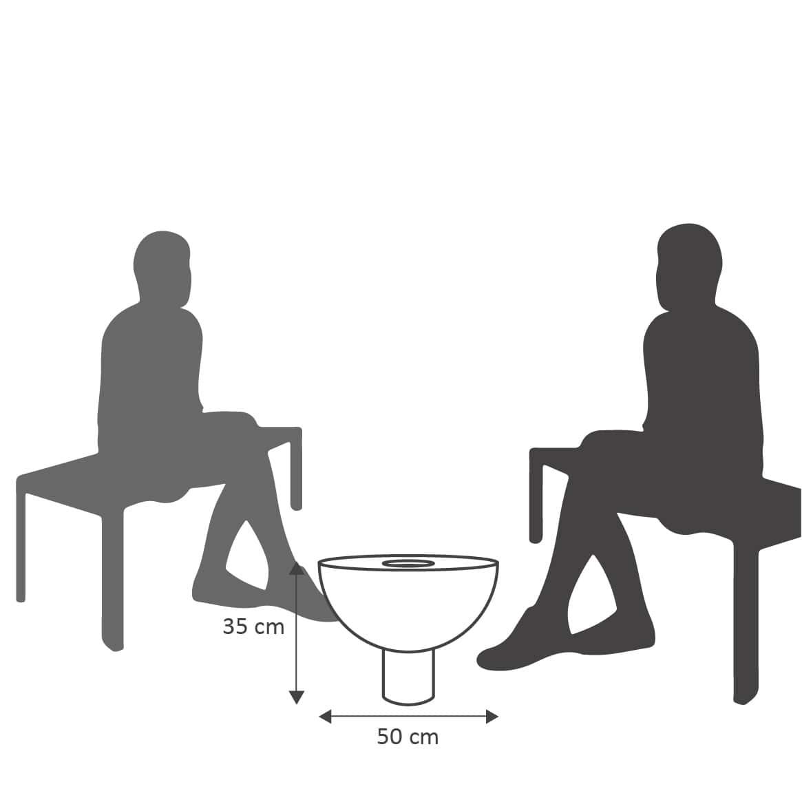 Mesa de Centro 50x35 cm com Vaso VASART