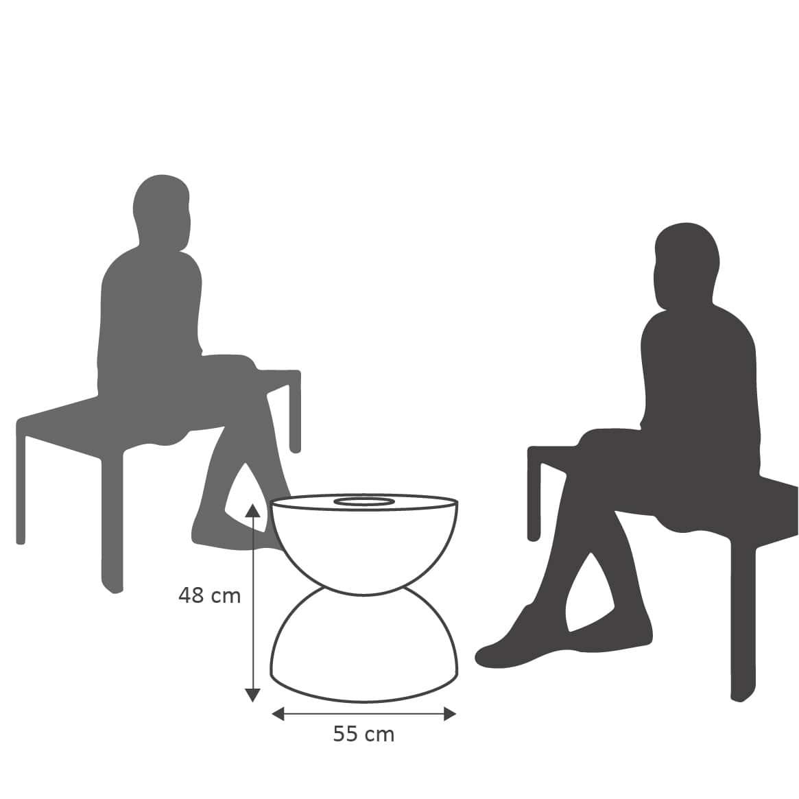 Mesa de Centro 55x48 cm com Vaso VASART