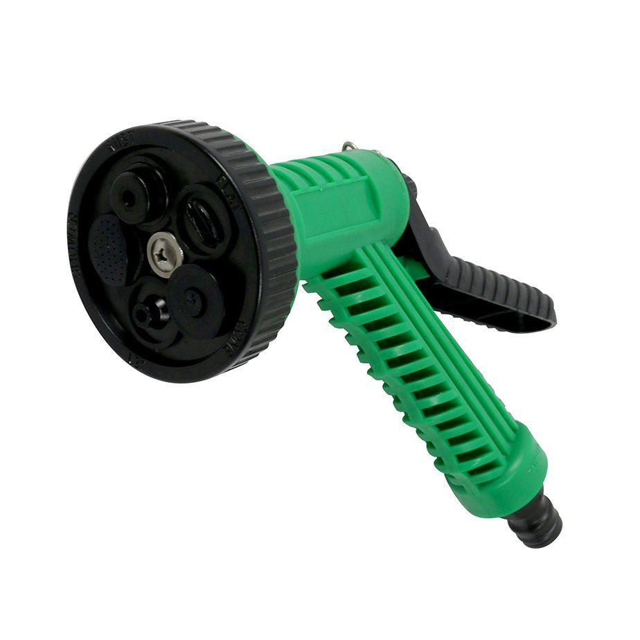 Pistola Para Rega Multi-Uso 6 Tipos de Jato Verde