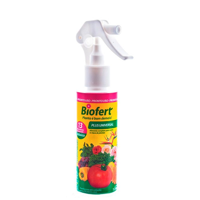 Plus Universal Pronto Uso Com Borrifador 120 ml BIOFERT