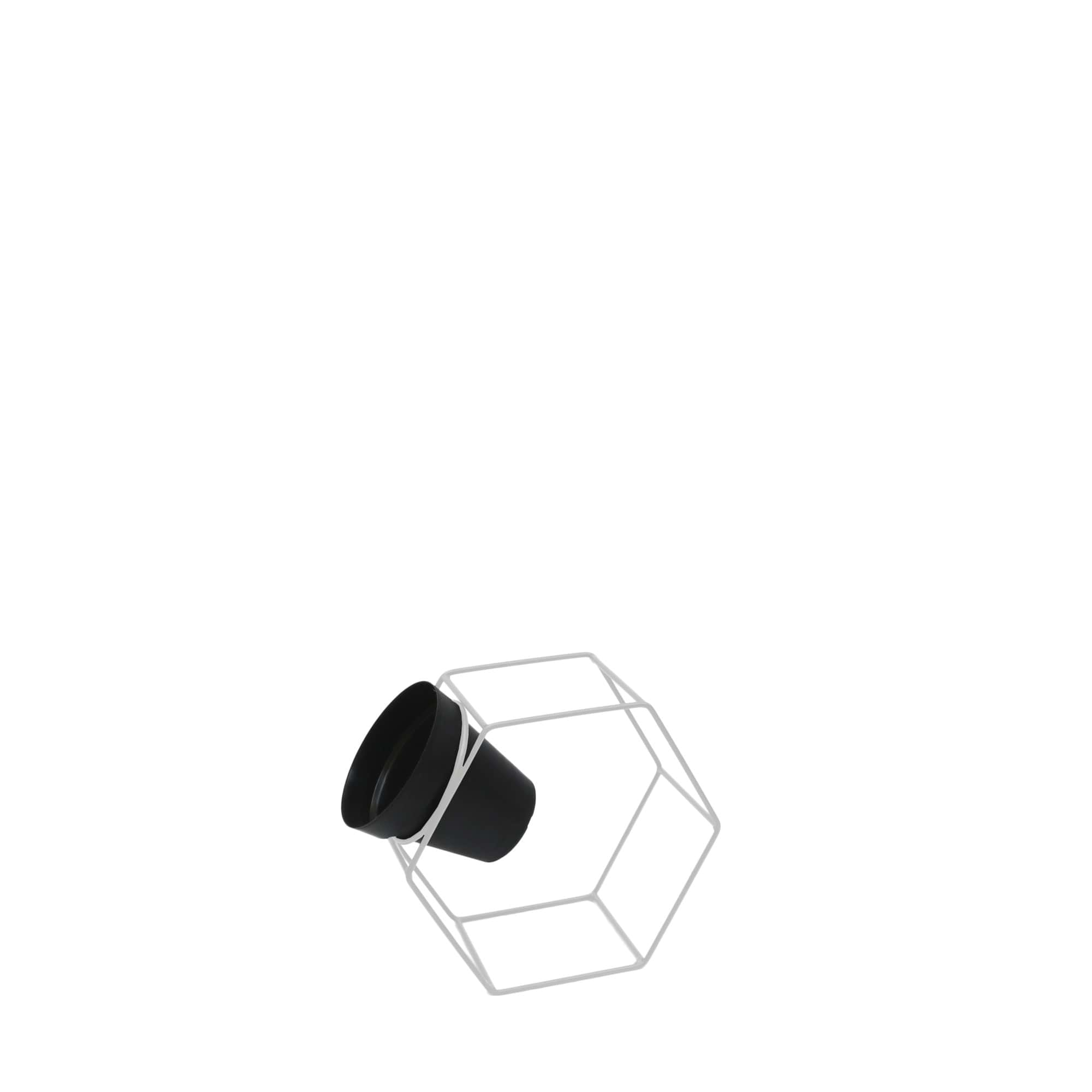 Suporte Ferro Sextavado Parede 27 x 24 cm Branco Vasart