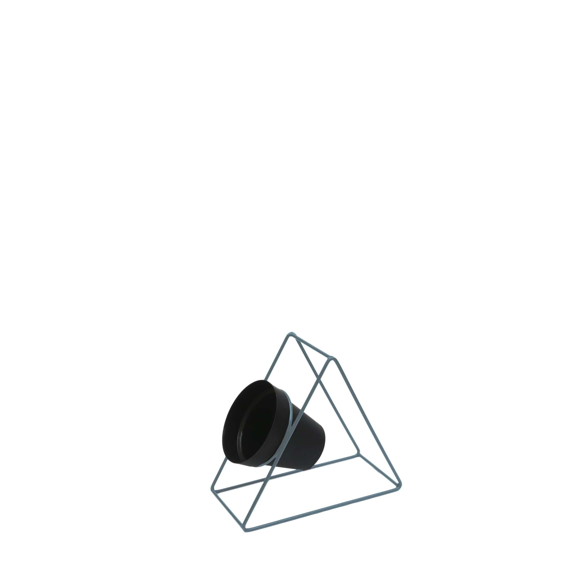 Suporte Ferro Triângulo Parede 24 x 24 cm Azul Vasart