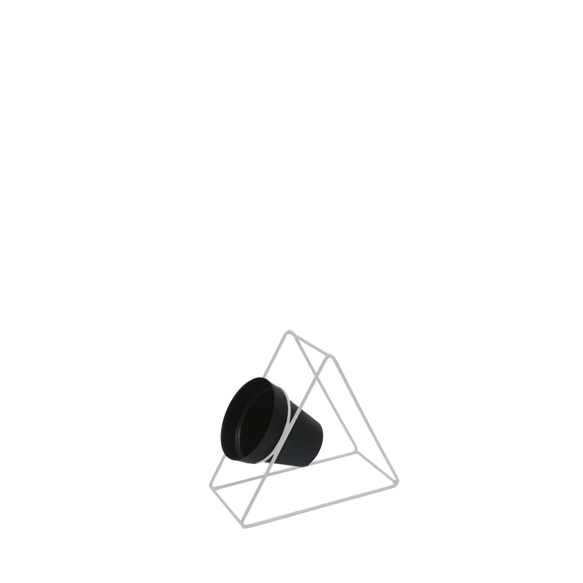 Suporte Ferro Triângulo Parede 24 x 24 cm Branco Vasart