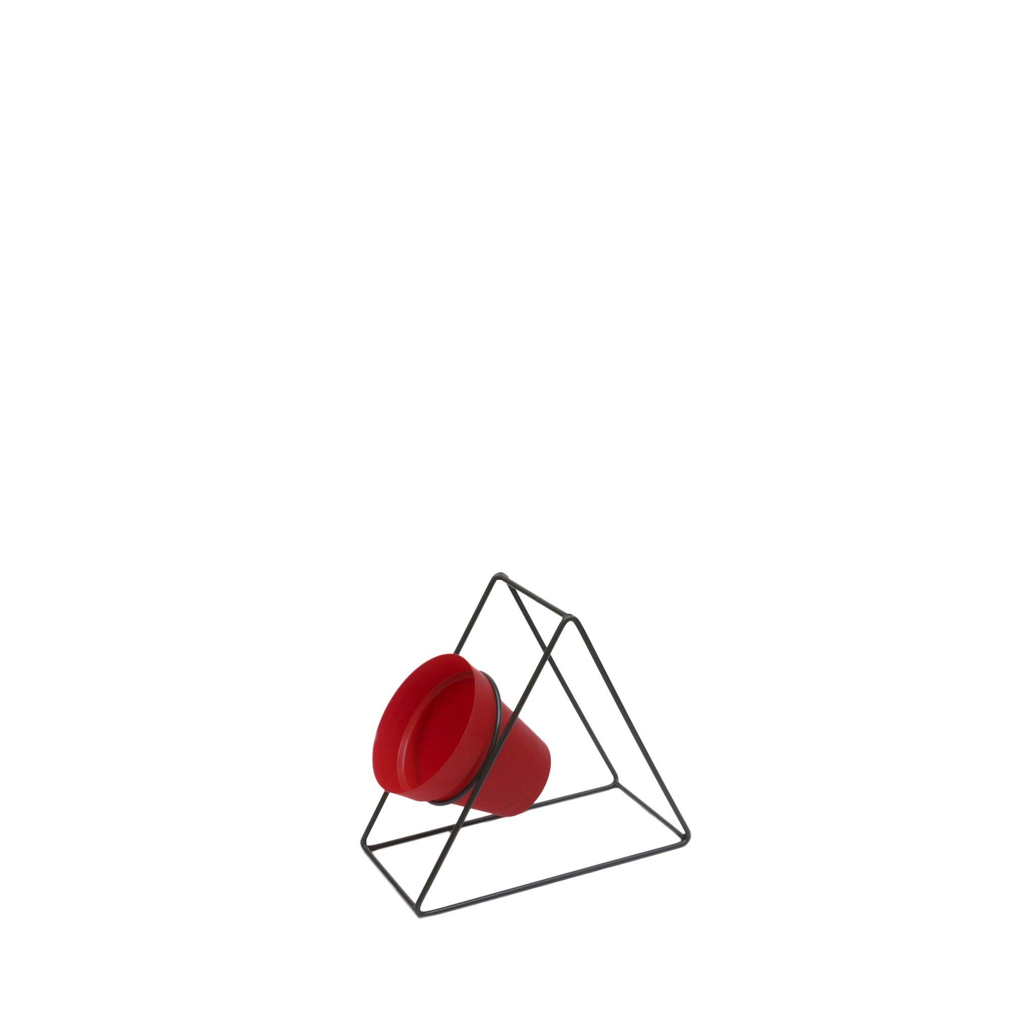 Suporte Ferro Triângulo Parede 24 x 24 cm Gratite/Preto Vasart