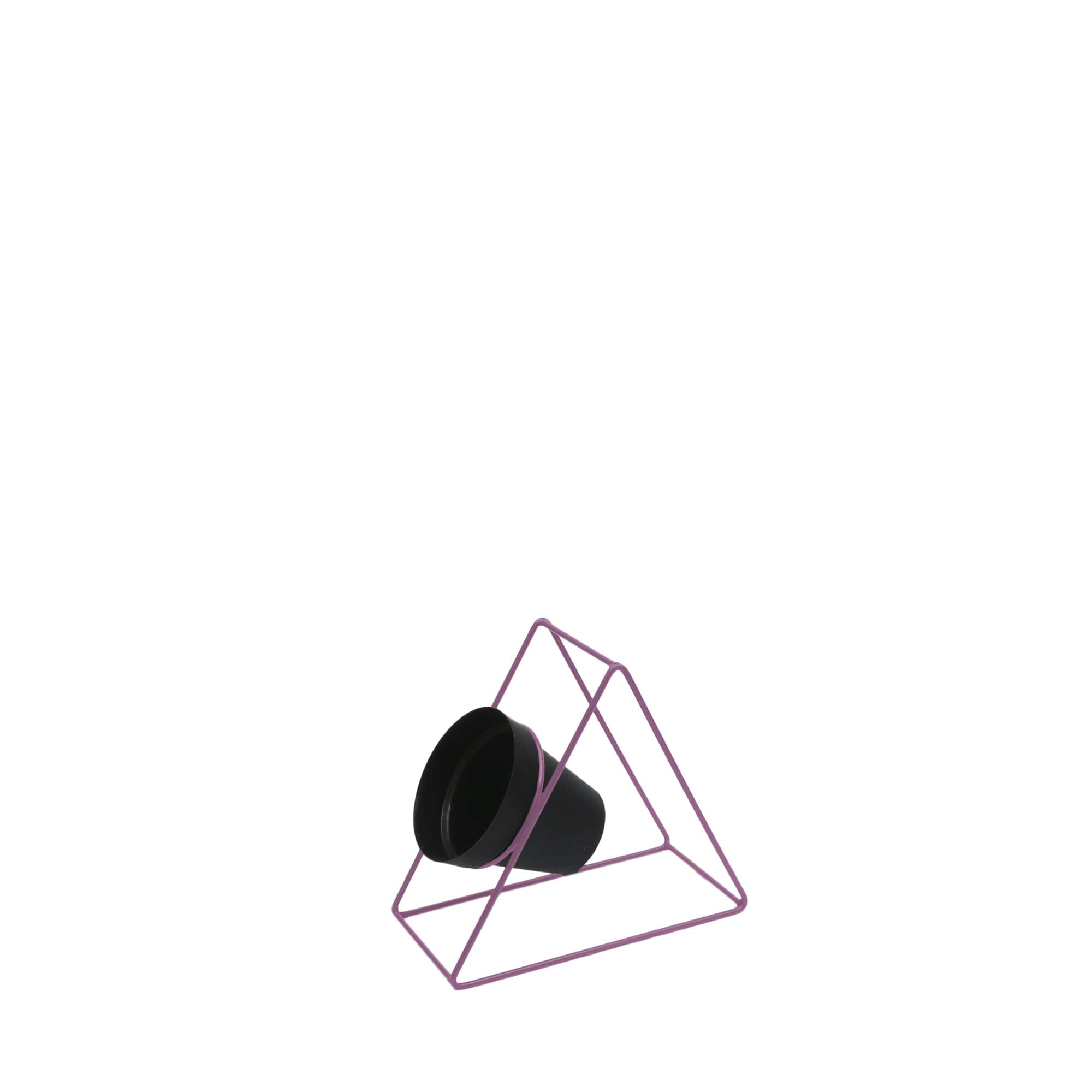 Suporte Ferro Triângulo Parede 24 x 24 cm Rosa Vasart